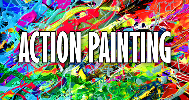 Action Painting Verf Gooien Smijten Amersfoort Workshop