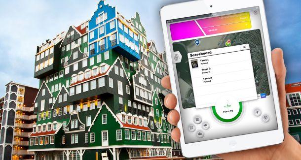 iPad City Challenge Leiden Bedrijfsuitje Stadsspel Outdoor actief uitje