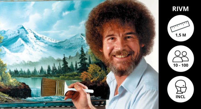 Outdoor workshops: Online Bob Ross Schilderworkshop