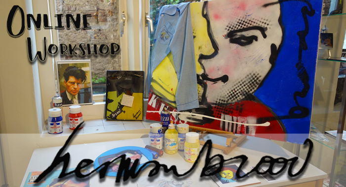 Maastricht: Online Herman Brood Schilderworkshop