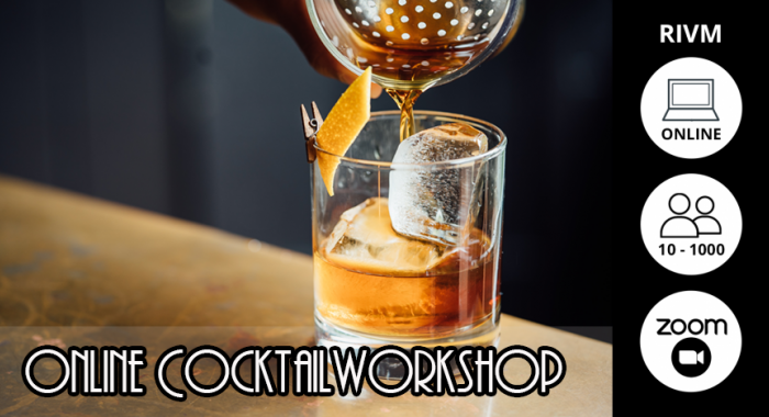 Teambuilding Maastricht: Online Cocktail Workshop