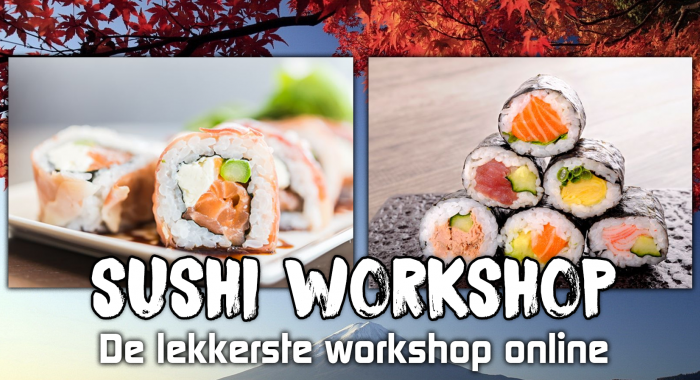 Teambuilding Nijmegen: Online Sushi Workshop