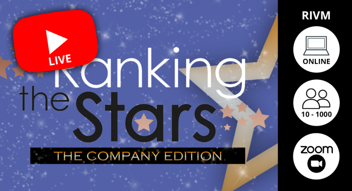 Bedrijfsfeest: Online Ranking the Stars Quiz