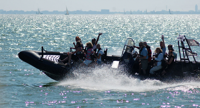 Hoek van Holland: RIB Powerboat Varen